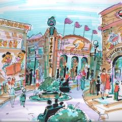 Sesame Street Theme Park Concept